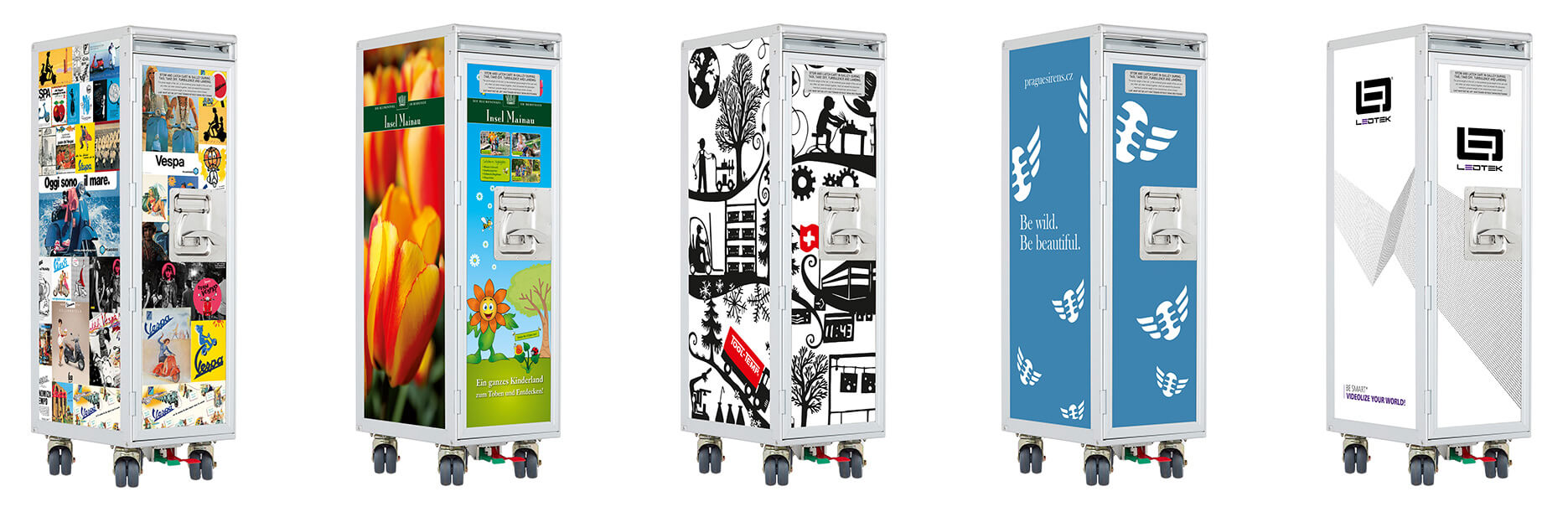 Flugzeugtrolleys im Corporate Design